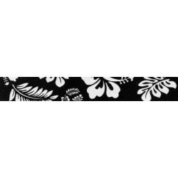 1/2 Inch Black Hawaiian Photo Quality Polyester