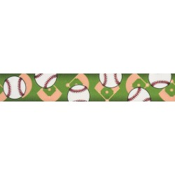 1 Inch Baseball Photo Quality Polyester