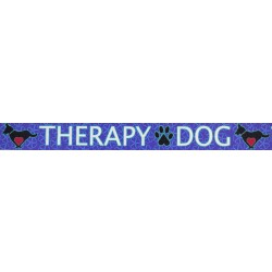 3/4 Inch Blue Therapy Dog Photo Quality Polyester