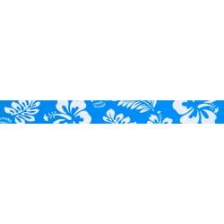 1/2 Inch Blue Hawaiian Photo Quality Polyester