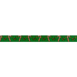 5/8 Inch Candy Cane Christmas Polyester Webbing