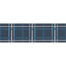 3/4 Inch Navy Plaid Photo Quality Polyester