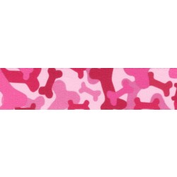 3/4 Inch Pink Bone Camo Photo Quality Polyester
