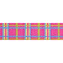 1/2 Inch Spring Pink Plaid Photo Quality Polyester