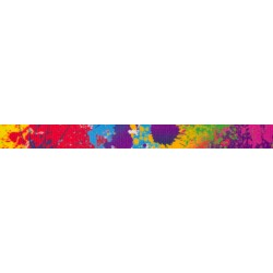 1/2 Inch Paint Splatter Photo Quality Polyester