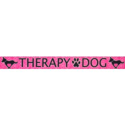1/2 Inch Pink Therapy Dog Photo Quality Polyester