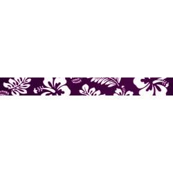 3/4 Inch Purple Hawaiian Photo Quality Polyester