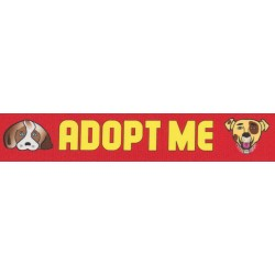 1 Inch Red Adopt Me Photo Quality Polyester - Closeout