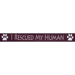 3/4 Inch I Rescued My Human Photo Quality Polyester Closeout, 1 Yard
