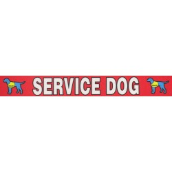 1 Inch Red Service Dog Photo Quality Polyester