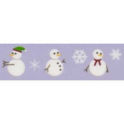 1 Inch Snowman Photo Quality Polyester