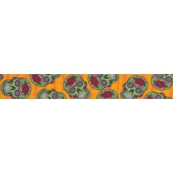 1 Inch Sugar Skulls Photo Quality Polyester