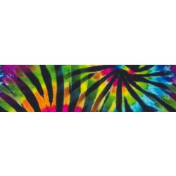 1 Inch Tie Dye Stripes Photo Quality Polyester