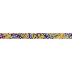 1/2 Inch Yellow Boho Mandala Photo Quality Polyester
