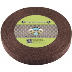 1 Inch Brown Heavy Polypro Webbing