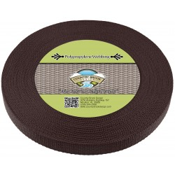 3/4 Inch Brown Heavy Polypro Webbing