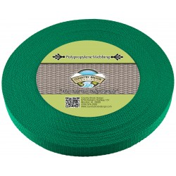 5/8 Inch Kelly Green Heavy Polypro Webbing