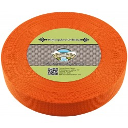 1 1/2 Inch Orange Heavy Polypro Webbing