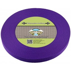 5/8 Inch Purple Heavy Polypro Webbing