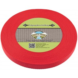 3/4 Inch Red Heavy Polypro Webbing