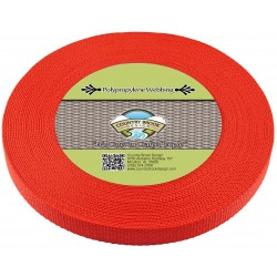 5/8 Inch Red Heavy Polypro Webbing