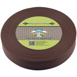 1 1/2 Inch Umber Brown Heavy Polypro Webbing