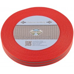 1 Inch Reflective Red Polyester Webbing
