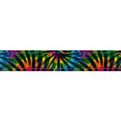 1 Inch Tie Dye Stripes Reflective Polyester Webbing