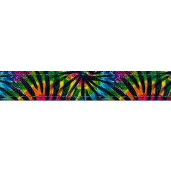 5/8 Inch Tie Dye Stripes Reflective Polyester Webbing