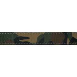 1 Inch Woodland Camo Reflective Polyester Webbing