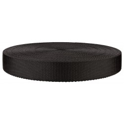 1 1/4 Inch Black Super Heavy Polypro Webbing Closeout