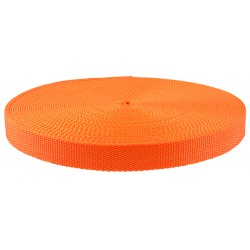1 Inch Orange Super Heavy Polypro Webbing Closeout