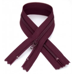 YKK #3 Coil Zipper, 7 inch length, Burgundy 021