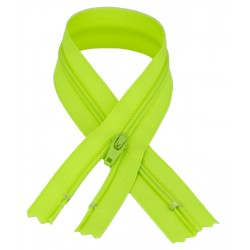 YKK #3 Coil Zipper, 13.5 inch length, Party Bright Green 535