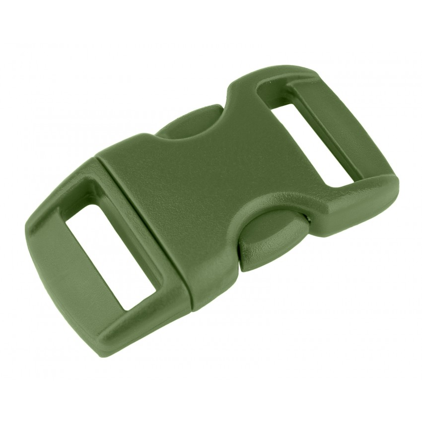 """12pcs 3//8/"""" Curved Side Release Plastic Buckle  for Paracord Bracelet Army Green"""