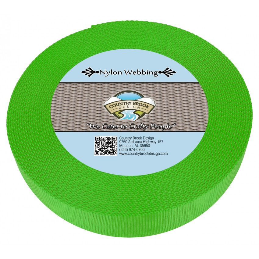2 Inch Heavy Nylon Webbing//Strapping  Florescent Hot Pink 1 Yard