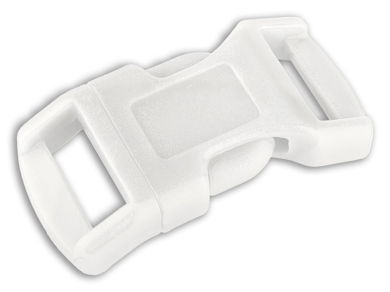 10-1//2 Inch White Economy Contoured Side Release Plastic Buckle Closeout