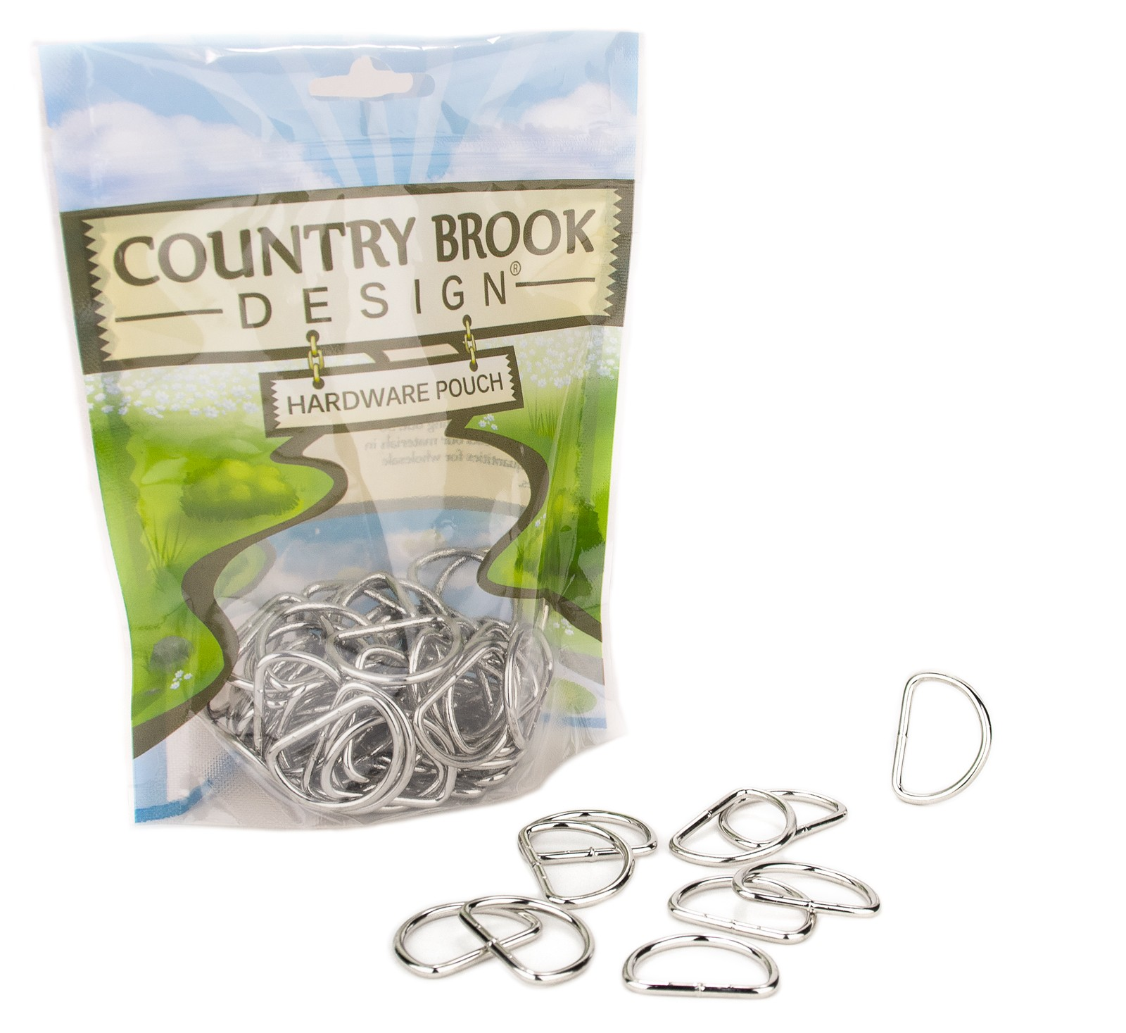 Country Brook Design® 3//4 Inch D-Ring with Clip 10