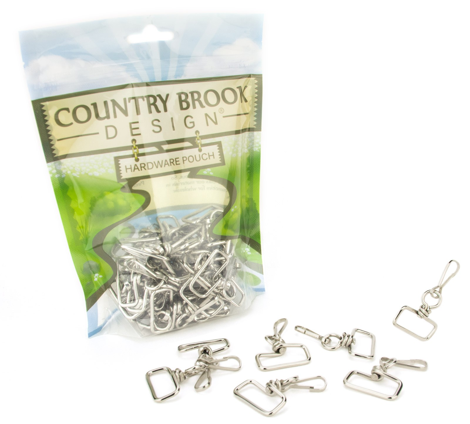 25 Swivel Lanyard Hooks Snap Spring Clips with 1 Inch Square Eye
