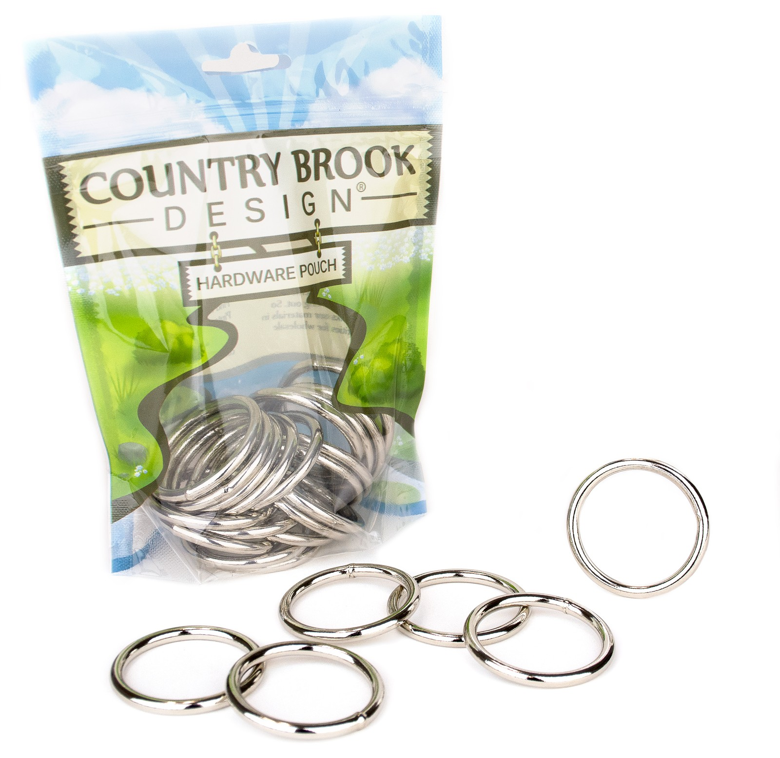"""3//4/""""~1-1//2/""""Rectangle Ring Nonwelded Nickel Plated Loops Buckle For Pets Belt Bag"""