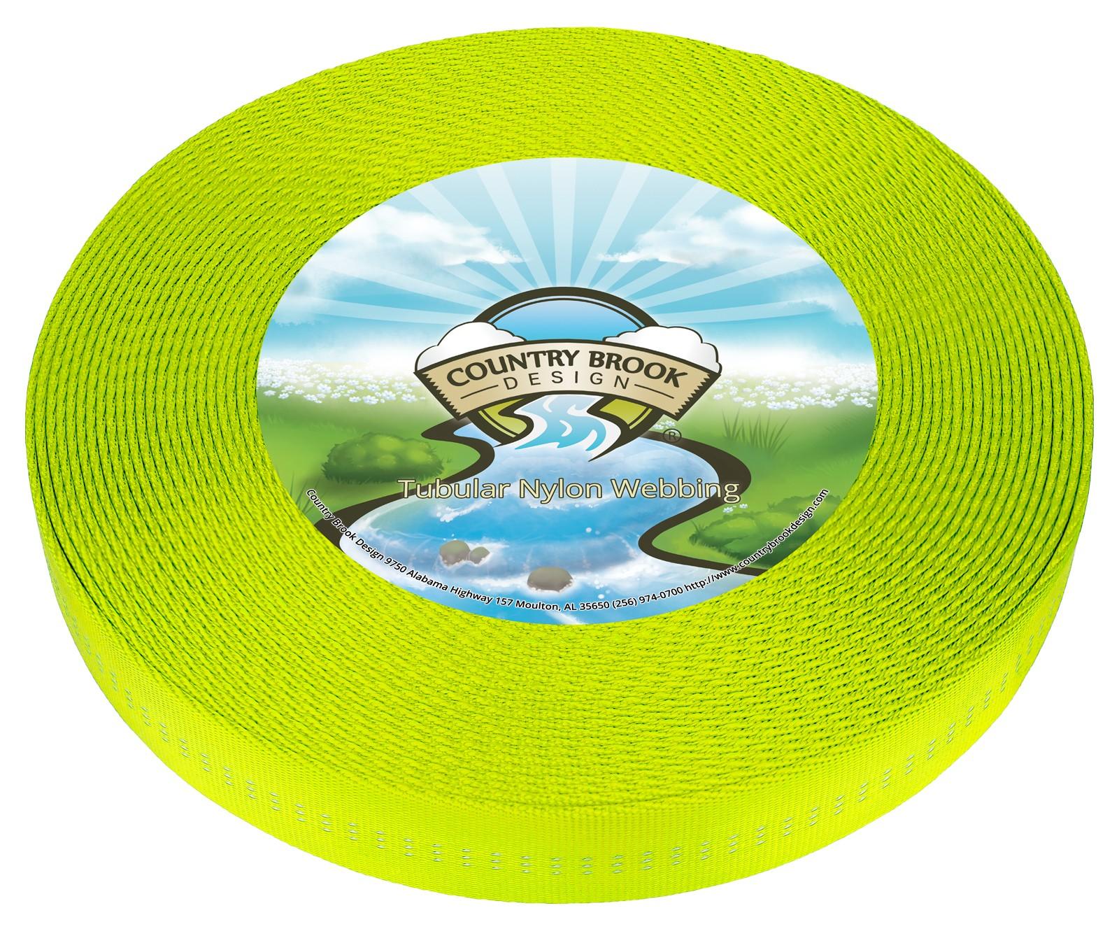 5 Yards Country Brook Design® 1 Inch Black Climbing Spec Tubular Nylon Webbing