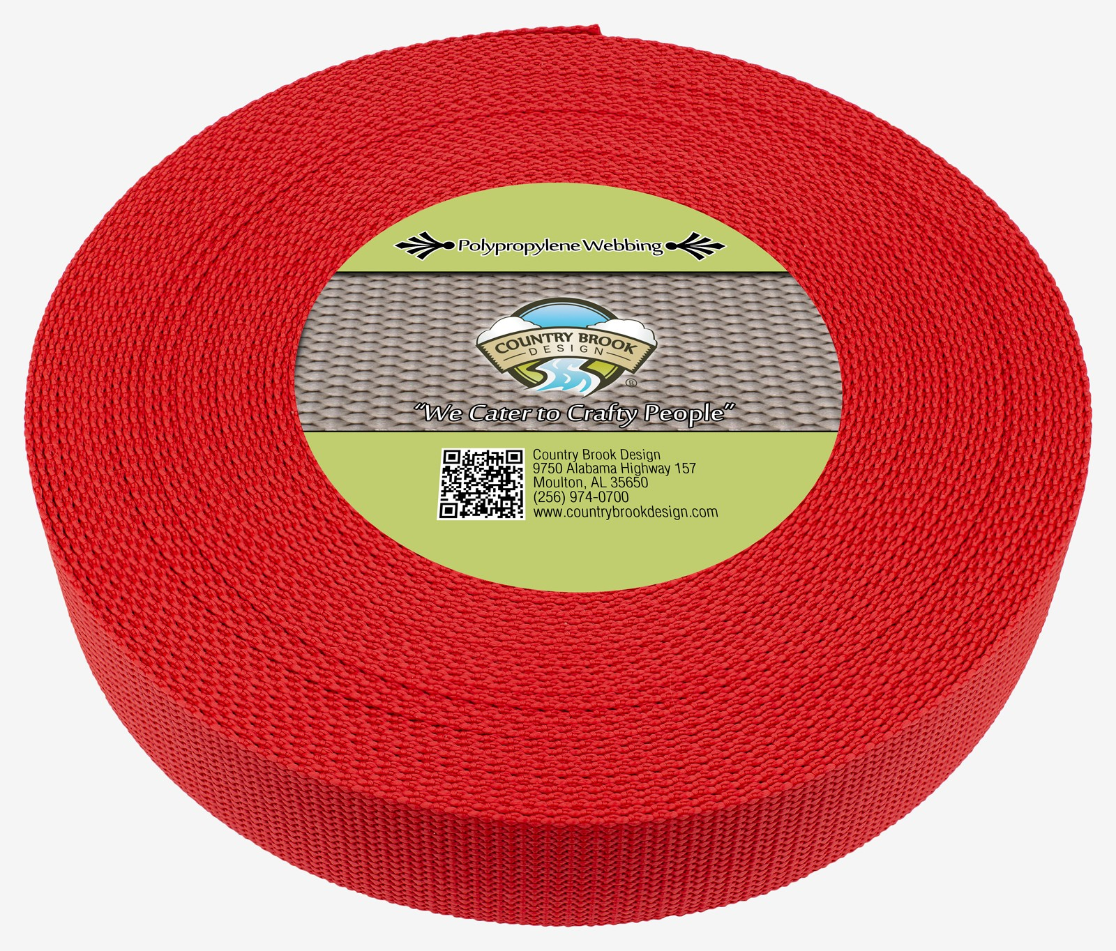 WEBBING STRAPPING TAPE RED WIDTH VARIOUS  LENGTHS POLYPROPYLENE