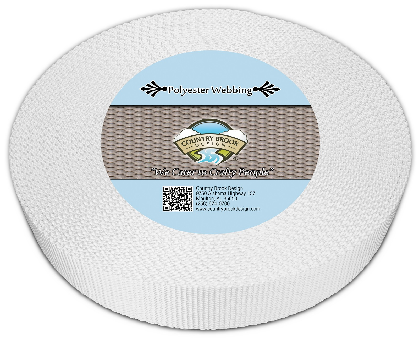 Country Brook Design® 1 Inch Printable Heat Set Heavy Polyester Webbing