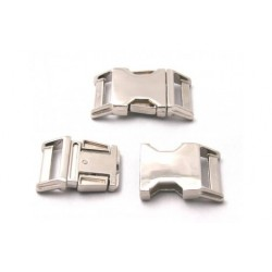 Country Brook Design® 1 Inch Contoured Nickel Plated Side Release Buckles