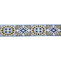1 1/8 Inch Silver & Gold Diamonds Woven Jacquard Braid Ribbon