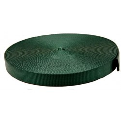 5/8 Inch Forest Green Super Heavy Nylon Webbing Closeout