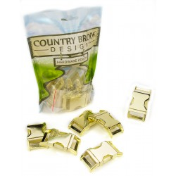1 Inch Contoured Brass Plated Side Release Buckles