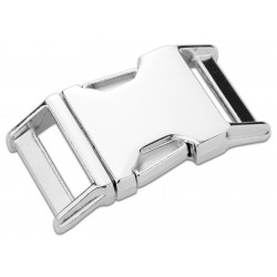 1 Inch Contoured Nickel Plated Side Release Buckles
