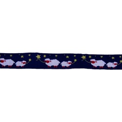 3/4 Inch Counting Sheep Woven Jacquard Braid Ribbon