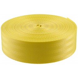 2 Inch Seat-belt Yellow Polyester Webbing Closeout